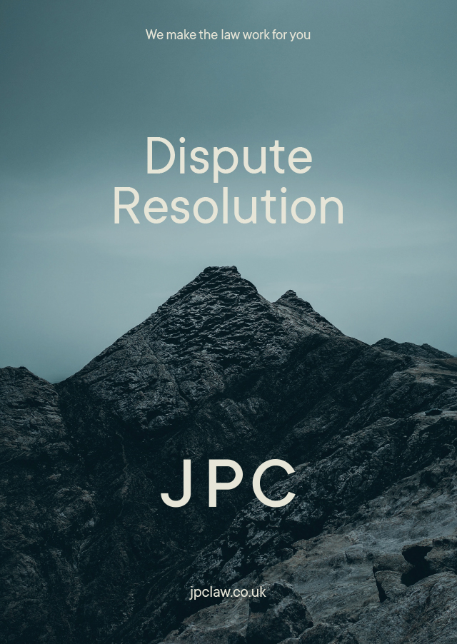 Dispute Resolution Brochure